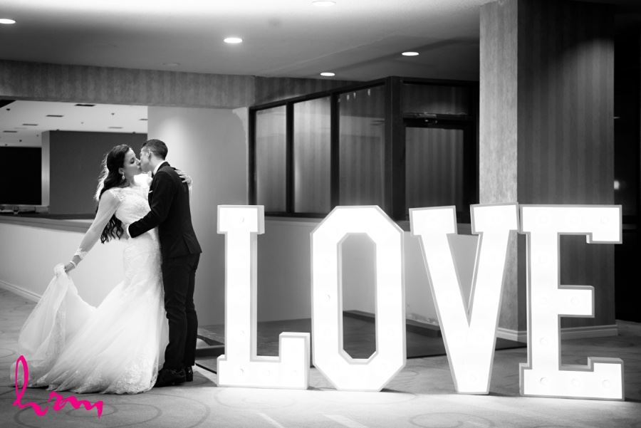 Wedding reception decor love marquis light sign