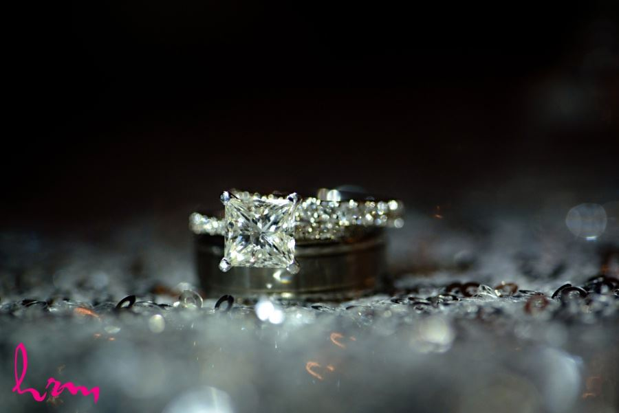 princess cut diamond engagement wedding ring