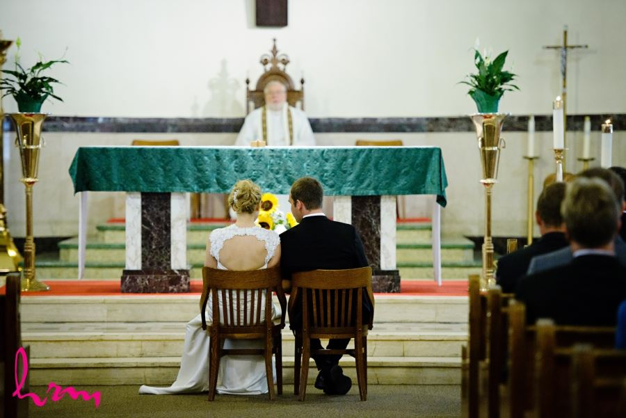 bride and groom St Francis-St.Martins Parish wedding ceremony
