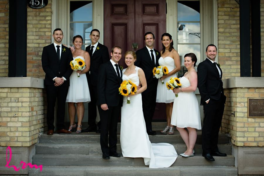 Bridal party wedding downtown london ontario photo locations
