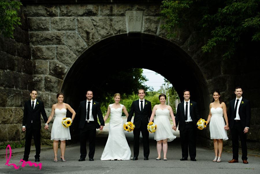 bridal party wedding under underpass london ontario downtown location