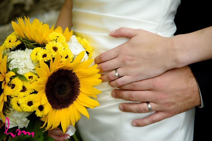 sunflower bridal wedding bouquet august wedding