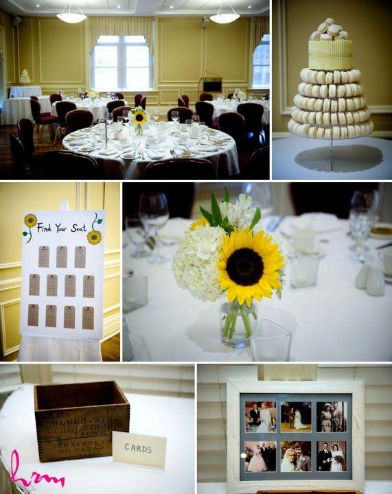 summer wedding decor ideas with sunflowers