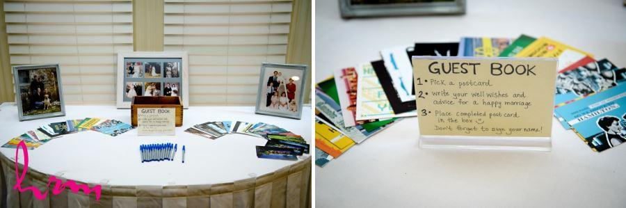 wedding guestbook postcard idea
