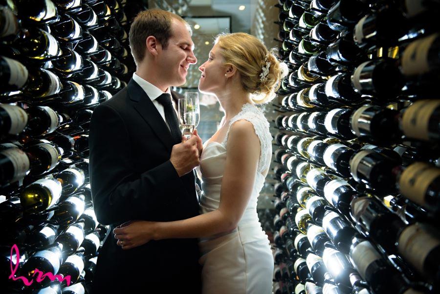 The London Club wine cellar wedding photography location