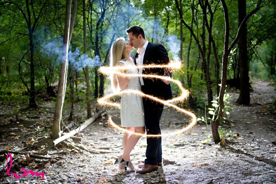 London Ontario Engagement Photography with Sparklers