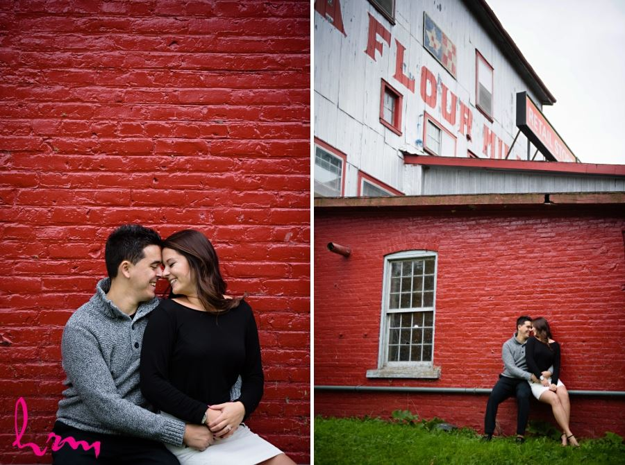 arva flour mill engagement session fall
