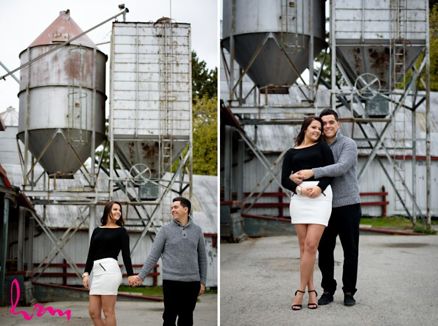 old flour mill engagement session
