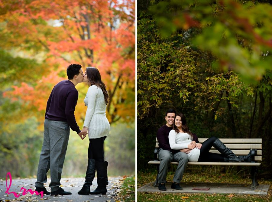 engagement session early fall colours