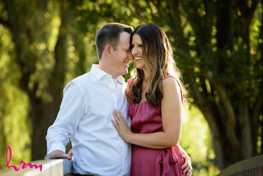 beautiful summer engagement session images couple laughing