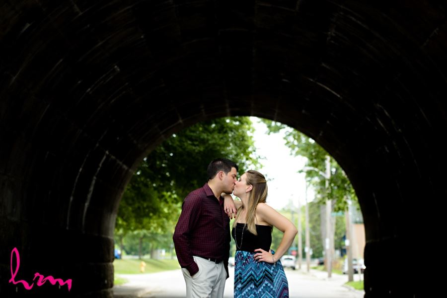 London Ontario engagement session locations old curved overpass