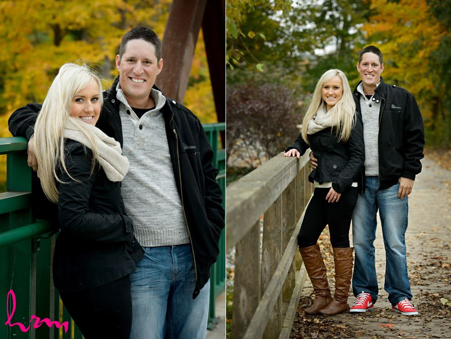 Cute engagement session at Springbank Park in London Ontario