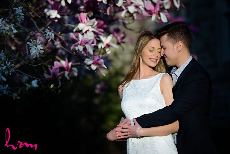 pretty spring engagement session image london ontario western university