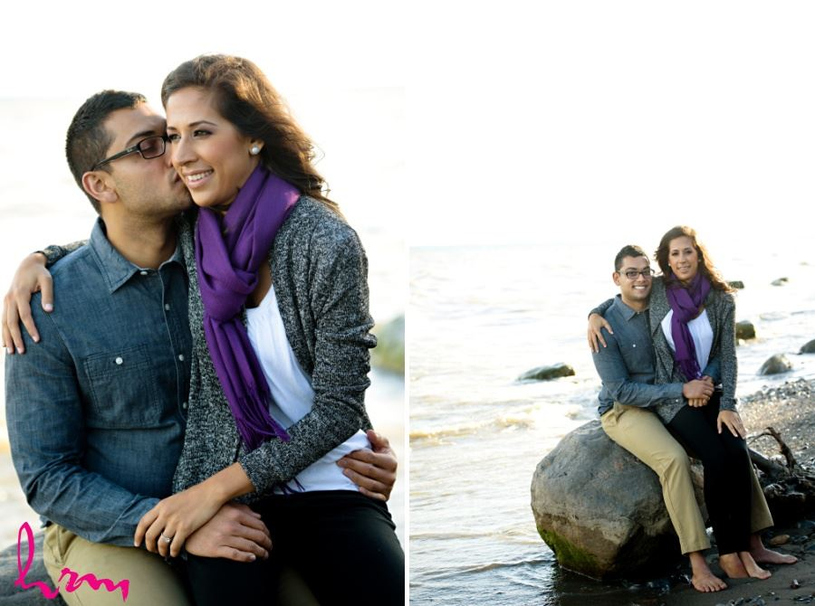 london ontario wedding photography beach engagement session