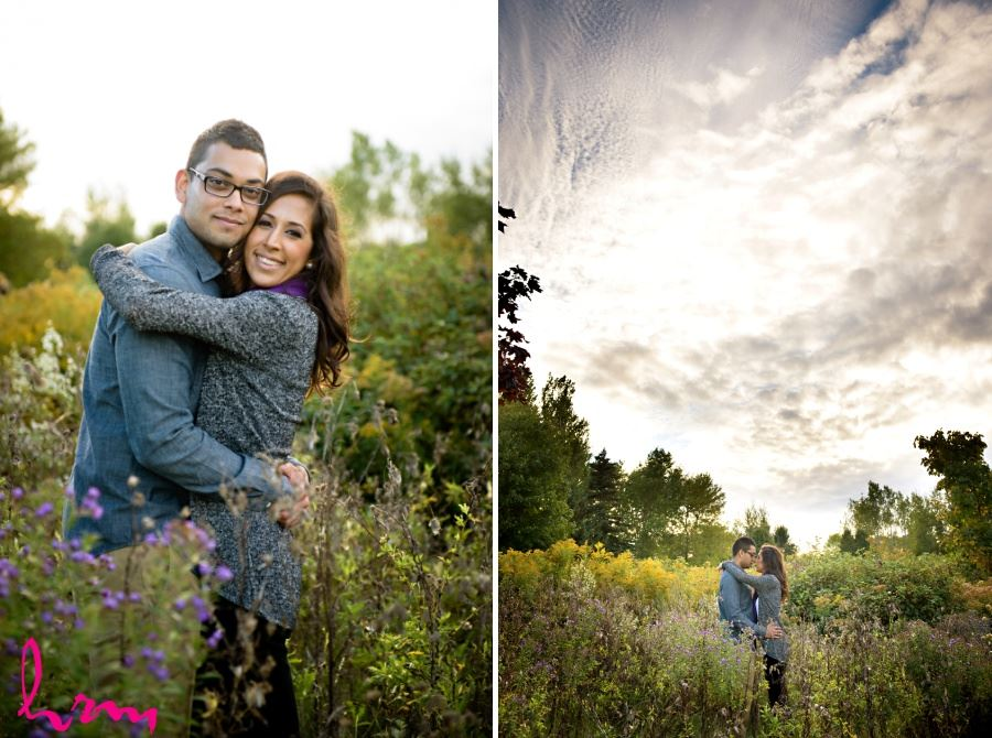engagement session photography beautiful sky