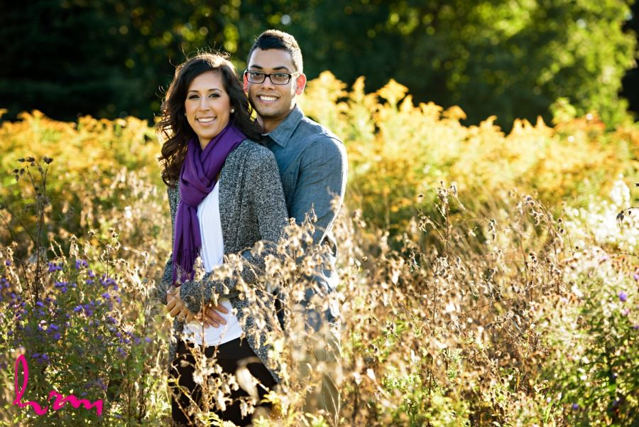London Ontario engagement session meadow