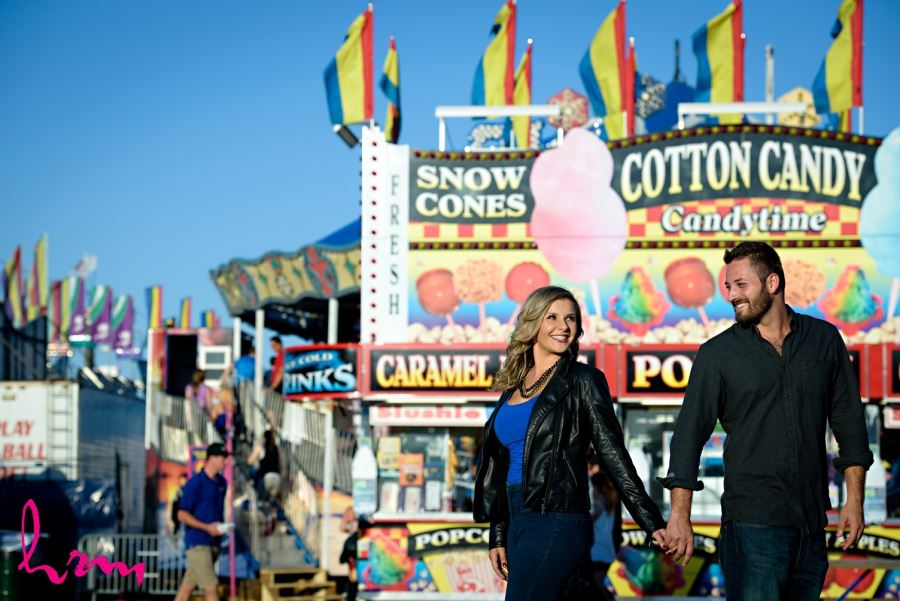 engagement session at fall fair london ontario