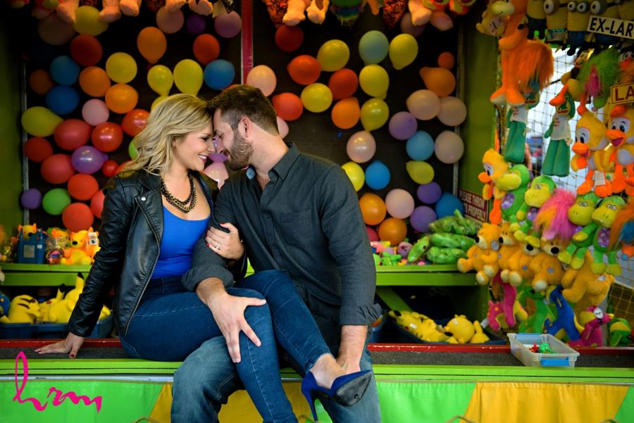 balloon pop carnival game western fall fair london ontario engagement session