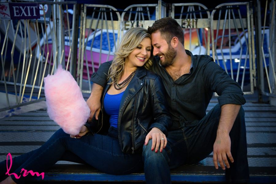 cotton candy engagement session prop