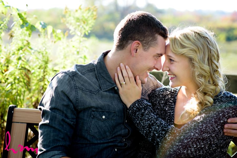 beautiful engagement session on farm in London Ontario