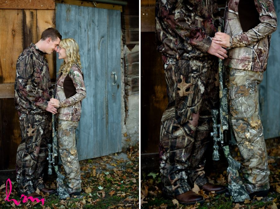 hunting camo engagement session ideas