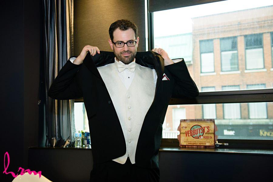Groom getting ready metro hotel london ontario