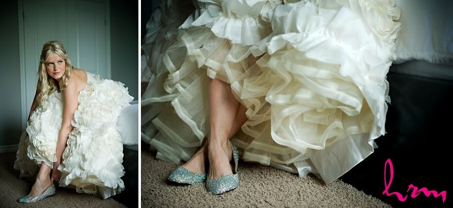 Wedding photo of Ania in silver shoes