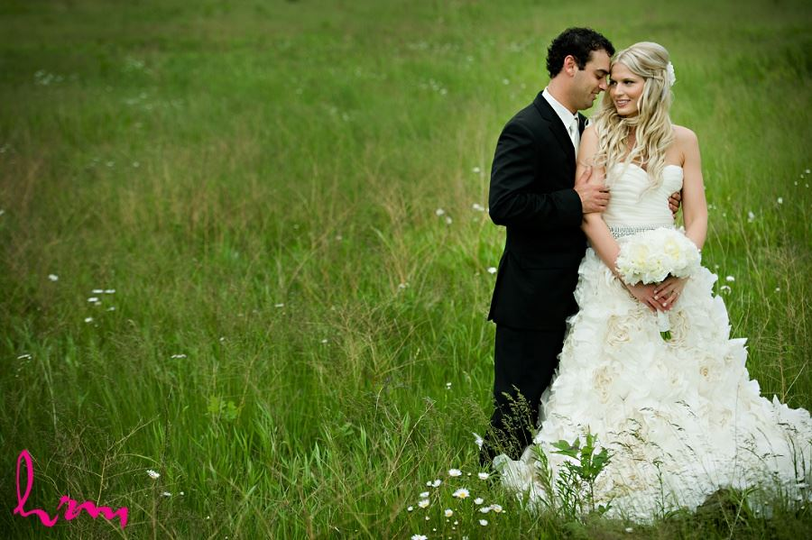 Wedding photo of Ania and Ken in field