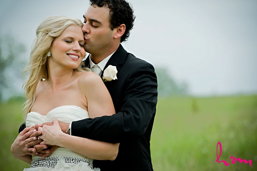 London Ontario Wedding photo of couple in field