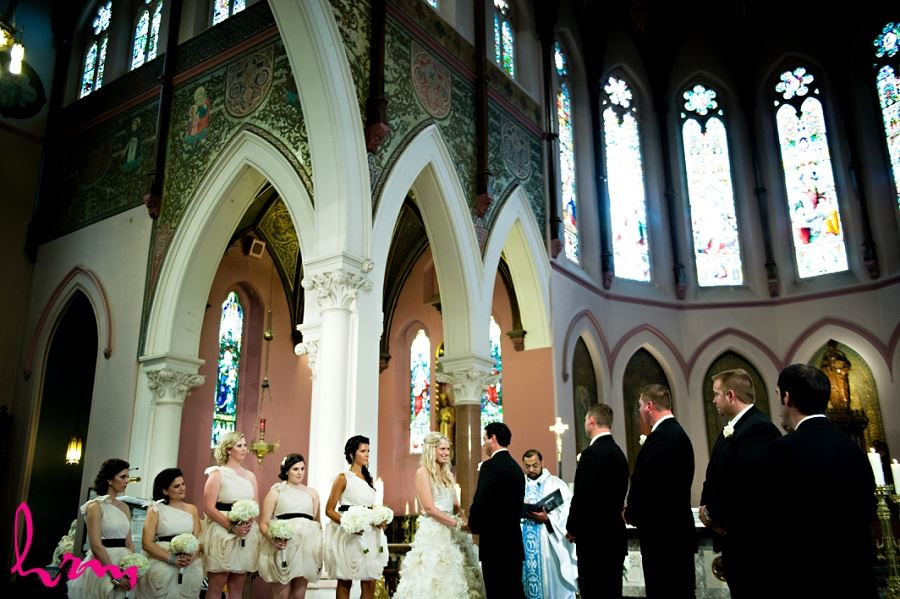 Bridal party at Altar taken by London Ontario wedding photographer