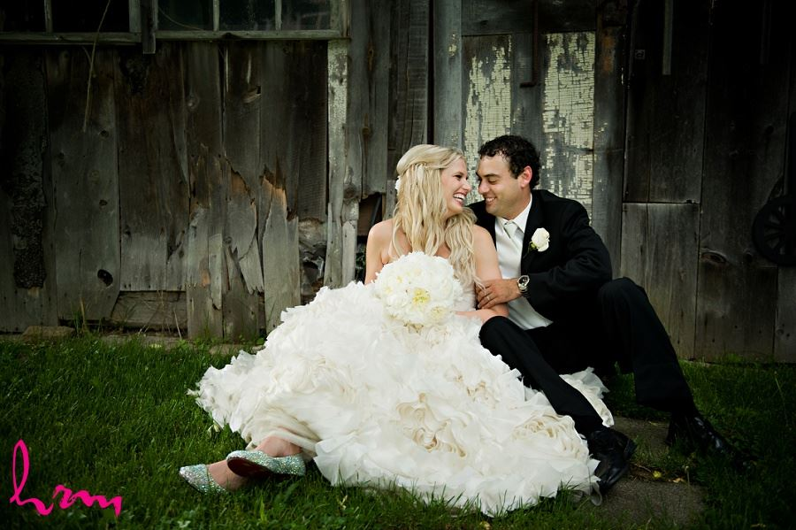 Photo of Ken and Ania in rustic setting taken by London Ontario wedding photographer