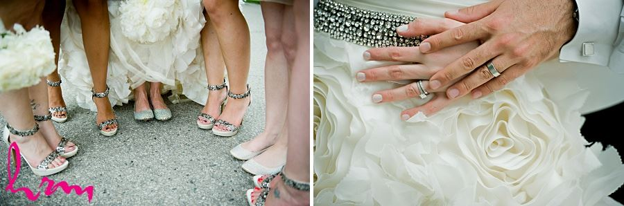 Bridal party shoes taken by London Ontario wedding photographer