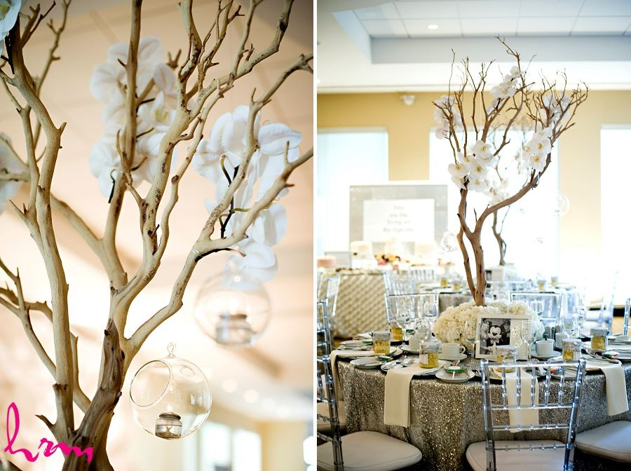 Wedding photograph of wedding centerpieces