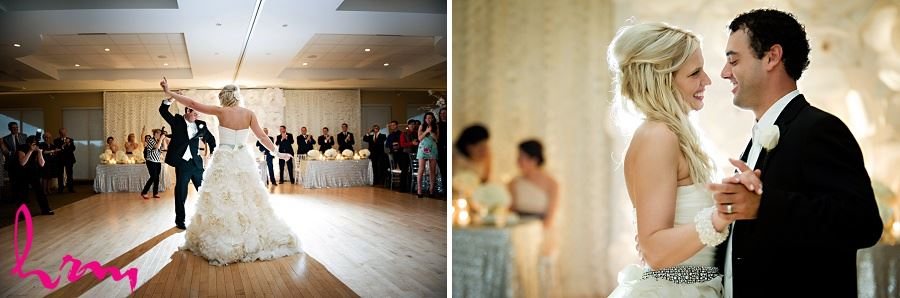 Photos of bride and groom dancing taken by London Ontario Wedding Photographer