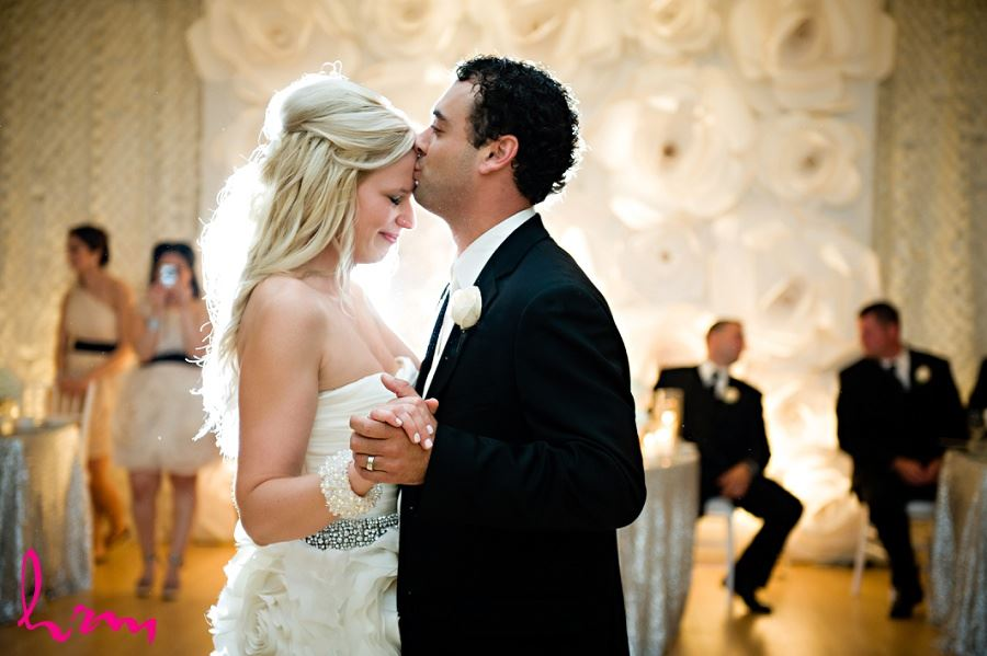 Photo of bride and groom dancing taken by London Ontario Wedding Photographer