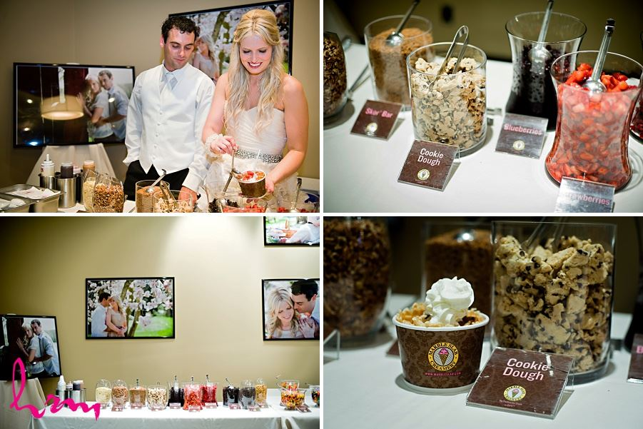 Photos of Cookie and ice cream bar taken by London Ontario wedding photographer