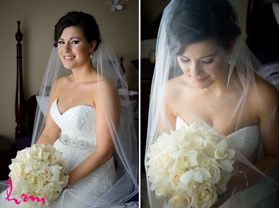 bridal bouquet white ivory orchids and roses