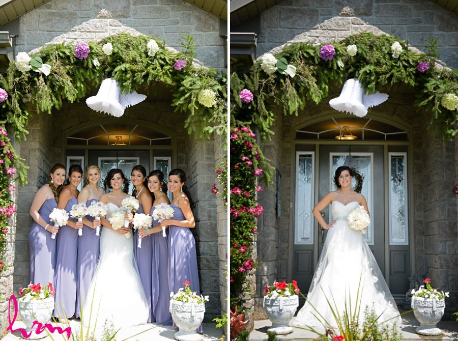 purple long bridesmaids dresses