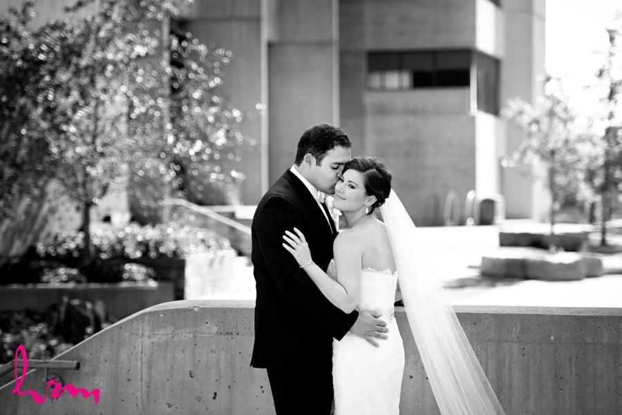 bride and groom wedding day university of western ontario campus