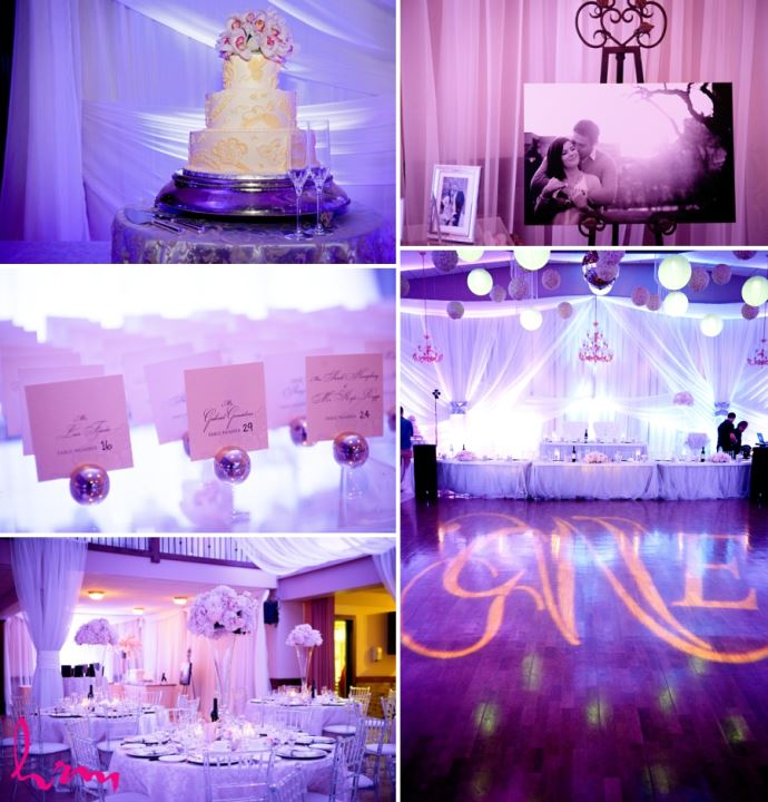 wedding decor inspiration purple and orchids
