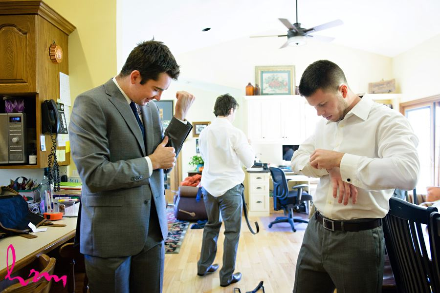 Will and groomsmen getting ready London ON Wedding Photography