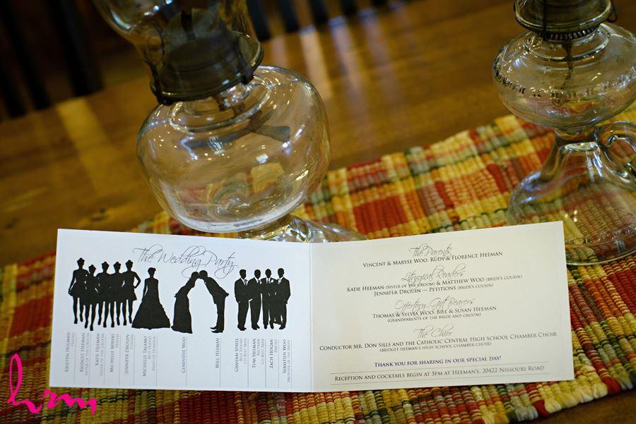 Wedding program  London ON Wedding HRM Photography