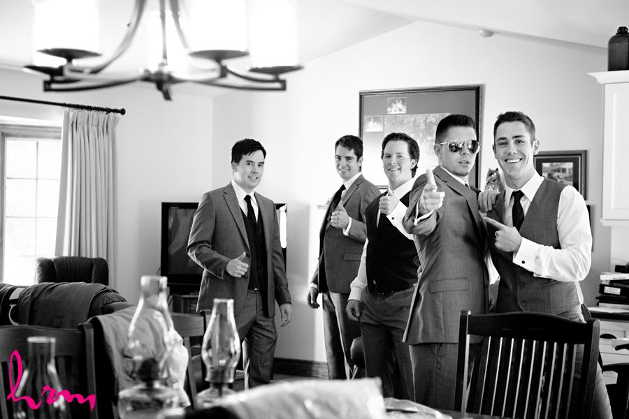 Will and groomsmen before wedding London ON Wedding Photography