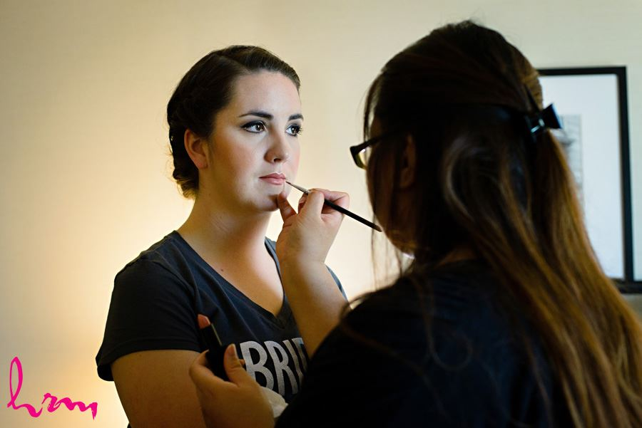 Make-up application before wedding London ON Wedding Photography