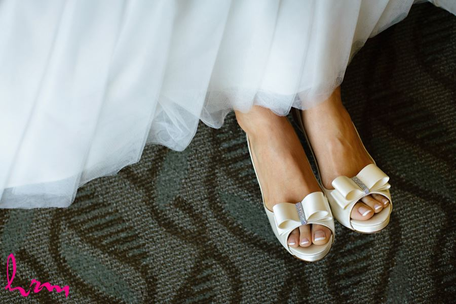 Bride in shoes before wedding London ON Wedding Photography