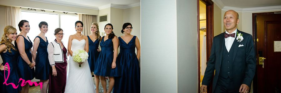 Geneviève and bridesmaids in dresses before wedding London ON Wedding Photography