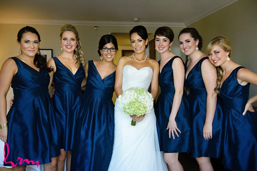 Geneviève and bridesmaids in dresses before wedding London ON Wedding HRM Photography