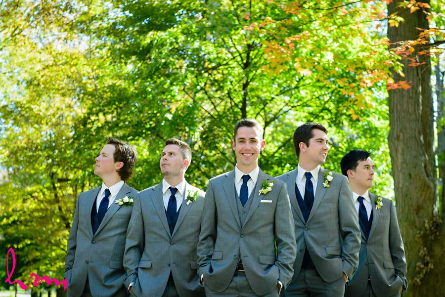 Will and groomsmen outside St. Peter's Cathedral London ON Wedding Photography