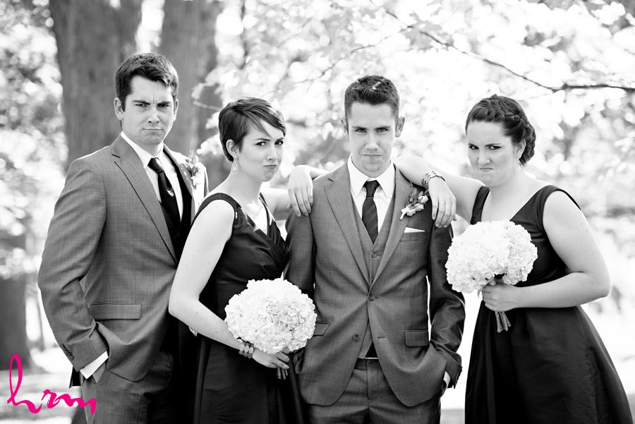 Will and bridal party pouty-faces London ON Wedding HRM Photography