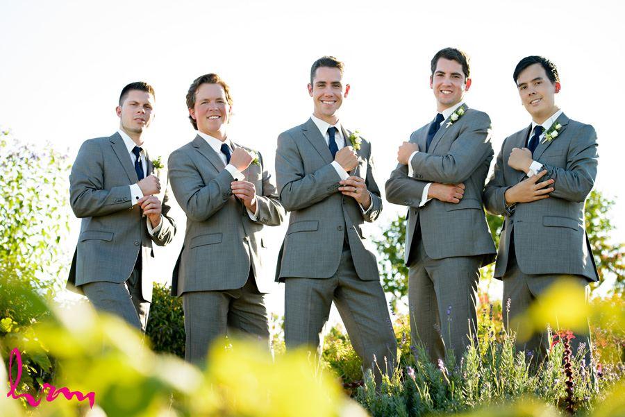 Groomsmen cufflinks at Heeman Greenhouses London ON Wedding HRM Photography